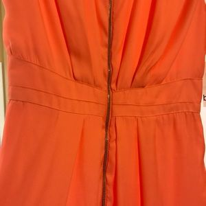 Bar III Dresses - Tangerine front zip dress